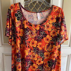 3XL LuLaRoe Floral Print Shirt